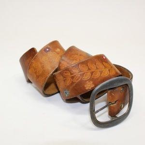 Levi's Accessories - Levi's Soft Tooled Leather Vine & Flower Belt